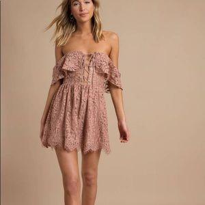 NWT TOBI Kinsley Lace Ruffle Skater Dress Medium